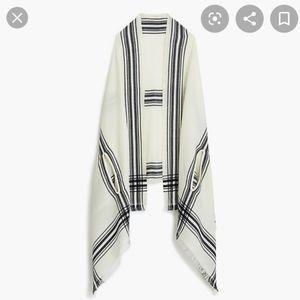 J. Crew window pane cape scarf, brand new